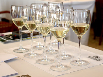 Image of wine glasses during wine training course